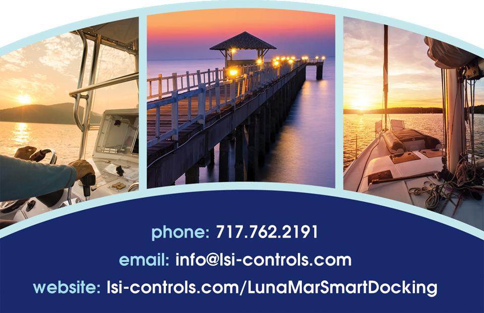 phone: 717.762.2191, email: info@lsicontrols.com  website: lsi-controls.com/LunaMarSmartDocking